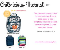 Chill-icious Thermal By Thirty One Spring/Summer 2016 Catalog