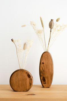 Wooden Art, Wooden Decor, Wooden Statues, Flower Vase Design, Flower Vases, Vases Decor, Plant Decor, Branch Decor, Wood Vase