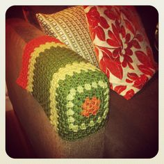 Free Crochet Chair Arm Cover Patterns Crocheted Arm