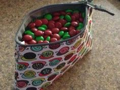 468 M'n'Ms in a 31 Thermal Zipper Pouch. I love the Take It Slow pattern, the thermal will keep my candy from getting squishy, and inside I can hold 467 M'n'Ms, 466, 465...