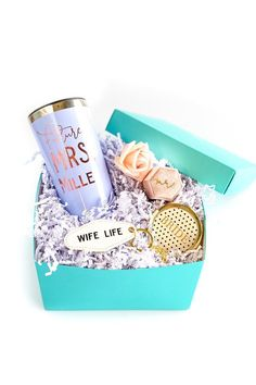 Looking for a personalized engagement gift? We have a perfect gift for engagement party! Let's show the Future Mrs some love with this personalized engagement gift box - it's the perfect gift for the bride-to-be! This engagement gift for the bride is one she'll love! She'll love the Future Mrs tumbler, the engagement ring box & bride gifts as a bridal shower gift. You can ship this engagement gift idea directly to the new bride to be! #engagementgift #engagementgiftbox #giftforthebride Engagement Gift Boxes, Perfect Engagement Gifts, Engagement Party Gifts, Engagement Gifts For Couples, Engagement Couple, Engagement Ring, Bridesmaid Proposal Box, Bridesmaid Ideas, Future Mrs
