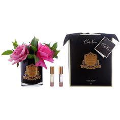 Côte Noire Rose Bouquet - Dark Glass ($81) ❤ liked on Polyvore featuring home, home decor, floral decor, black, artificial flower arrangement, black glass bottles, faux florals, rose bouquet and fake flower bouquets