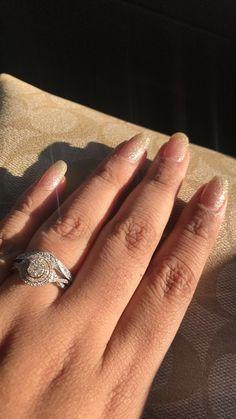 Natural Glitter Nails