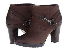 Clarks Lida Piper Dark Brown Nubuck - Zappos.com Free Shipping BOTH Ways  Now these are a sexy pair of brown booties.