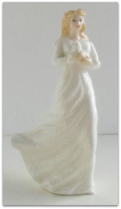 1991 Royal Doulton Bone China 'Loving You' HN 3389. 'Sentiments' Collection