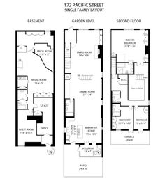 Cobble Hill Townhouse, single family layout