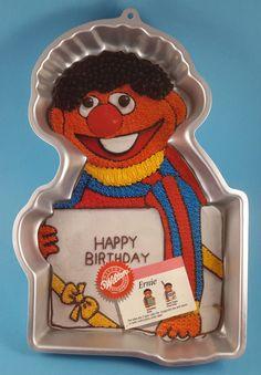 Wilton 1983 Ernie Cake Pan ~ Sesame Street Muppet Character ~ w/ Insert 502-3614 #Wilton