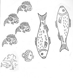 embroidery pattern transfer - fish