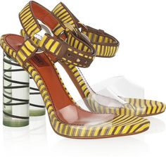 ShopStyle: Missoni Knitted and Perspex sandals