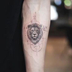 Image may contain: one or more people - Tattoos, Style and Quotes - Small Lion Tattoo, Lion Head Tattoos, Leo Tattoos, Couple Tattoos, Body Art Tattoos, Tribal Tattoos, Small Tattoos, Tattoos For Guys, Tattoos Skull