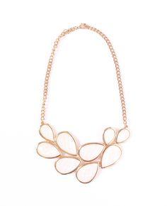 White statement necklace, white bib necklace, white necklace by TheFashionBandits on Etsy https://www.etsy.com/listing/193651310/white-statement-necklace-white-bib