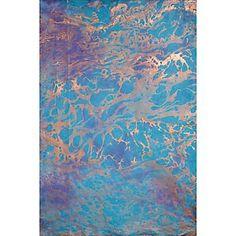Copper Swirls on Marbled Fine Paper