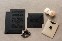Royce Foil Stamped Wedding Invitation | Modern