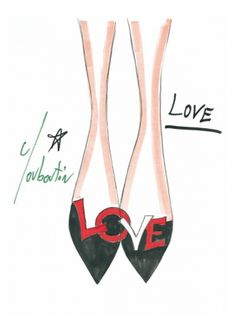 Louboutin 20 Years Collection Drawings