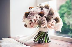 Simple Pink Bouquet. STYLED SHOOT: 1960s MAD MEN WEDDING INSPIRATION | Raspberry Wedding