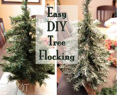Jen from Epbot shares her super easy tree flocking method.  I love reading along with her tutorials, (not to mention her other geekery) she makes things sound so easy and is always sure to share any pitfalls she encounters along the way.
