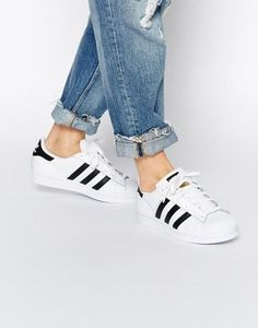 Buy Adidas Originals Superstar White & Black Trainers Womens from Reliable Adidas Originals Superstar White & Black Trainers Womens suppliers.Find Quality Adidas Originals Superstar White & Black Trainers Womens and more on Airyeezyshoes. Adidas Superstar, Adidas Star, Gold Adidas, Super Star Adidas, Black Adidas, Adidas High, Pink Adidas, Latest Fashion Clothes, Adidas Women