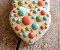 Fabulous polka dot cookie technique (and can be done in any shape and color)!