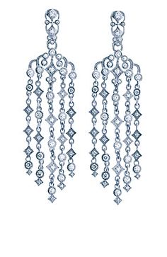 Judith Ripka Chandelier lace earrings - these remind me of a pair of earrings I bought for my sis-in-law many years ago.  😃