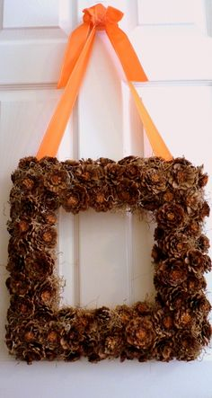 DIY Tutorial: How to Make a Pine Cone Wreath | DIY Home Staging Tips