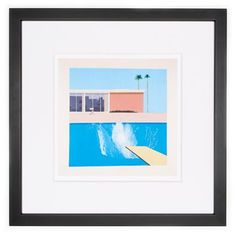 David Hockney's iconic image, 'A Bigger Splash', 1967. Archival quality, giclée reproduction from Tate's collection of modern art. <br> <br>The Sixties are often seen as a time when Britain emerged from the greyness of the postwar years into a period of optimism, youthfulness and colour. Few works exemplify this perception better than Hockney's depictions of Californian swimming pools. Even in the late 1960s, these still evoked a glamorous and exotic life of sun, wealt...