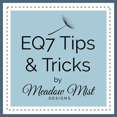 Welcome back for another EQ7 Tips and Tricks Tutorial. Today I am going to show you how easy it is to move your fabric images aro...