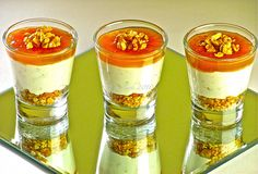 Bicchierini gorgonzola pere e noci