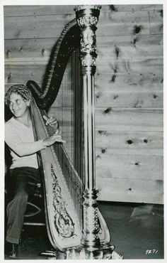 Harpo at the harp.