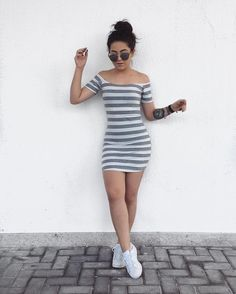 Sports type dresses that will give you a better silhouette – Outfit Inspiration & Ideas for All Occasions Simple Fall Outfits, Spring Outfits, Trendy Outfits, Cool Outfits, Girl Fashion, Fashion Outfits, Womens Fashion, Cute Dresses, Casual Dresses