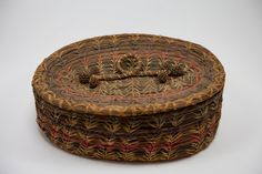 Old Native American Pine Needle Basket