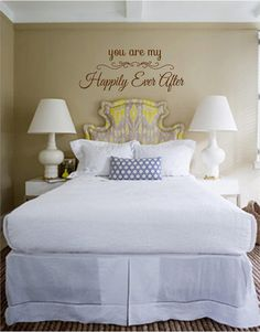 You Are My Happily Ever After  Vinyl Wall Art by TheVinylCompany, $12.00