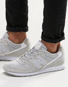 Image 1 of New Balance 996 Trainers In Grey MRL996LG