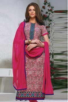 Andaaz Fashion presents new arrival designer semi stitched Magenta Churidar Suit with Magenta Chiffon Dupatta with Short Sleeve, Below Knee Length, Asymmetrical Neck Kameez with price $54.69. Embellished with Resham, Stone, Embroiderey.   http://www.andaazfashion.us/magenta-churidar-suit-with-magenta-chiffon-dupatta-dmv13284.html