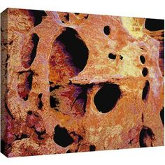Dean Uhlinger Erosion Glow Gallery-Wrapped Canvas, Size: 14 x 18, Yellow