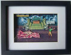 Cadillacs & Dinosaurs 3D Diorama Shadow Box $32.32 #3ddiorama #diorama #gifts #giftsforhim #cadilacsanddinosaurs