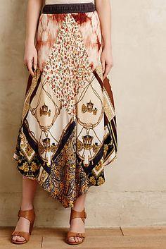 Vintage Scarf Skirt