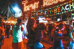 The Beginner's Guide to The Full Moon Party in Thailand • The Blonde Abroad Full Moon Party Thailand, Fire Dancer, That One Friend, Dance The Night Away, Kinds Of Music, Forever Young, Thailand Travel, Wanderlust, Happiness
