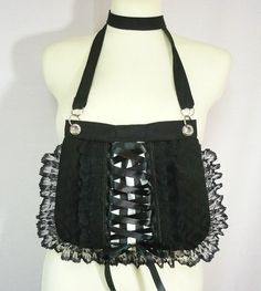 16c5858b9a Gothic Corset Bag with Lace Ruffle Gothic Lolita by estylissimo Gothic  Corset