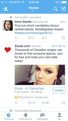 Example of how Twitter's Promoted Tweets aren't necessarily effective.  Screenshot taken by a