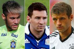 Artilheiros da primeira fase com 4 gols: Neymar, Messi e Muller.