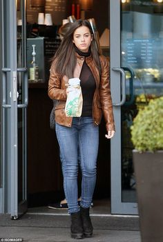 Relaxed: Georgia May Foote, 24, swapped her prime-time look for something much more casual when she stepped out in London on Sunday