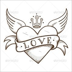 Drawing of hearts with wings how to draw a heart with wings drawing Art Drawings Sketches Simple, Pencil Art Drawings, Love Drawings, Easy Drawings, Tattoo Drawings, Love Drawing Images, Drawings Of Hearts, Cute Heart Drawings, Love Heart Drawing