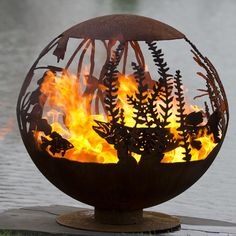 Red Lake Custom Fire Pit featuring a Northern Pike, Walleye & Crappies. Inspired by Upper Red Lake located in Northern Minnesota. Fire Pit Sphere, Metal Fire Pit, Wood Burning Fire Pit, Fire Pits, Minnesota, Fire Pit Gallery, Custom Fire Pit, Fire Pit Materials, Red Lake