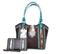 Montana West American Bling Concealed Carry Purse With Free Matching Wallet Set