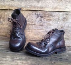 newest 4bb17 ff8f2 Handmade leather boots DARK BROWN