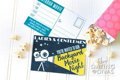 DIY Backyard Movie Night with free printables!