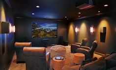 diy media rooms | ... build a theater/media room? Do most people add on to the home or use