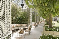 The hotel's garden is a 21,500-square-foot oasis in the heart of Paris.The New Ritz Paris Has A Secret Garden