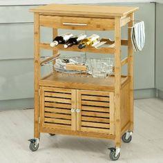 Kesser Bambus Küchenwagen Küchenschrank Beistellwagen Servierwagen ... | {Küchenwagen holz 64}