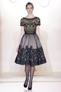 Winter Filigree Beaded Bodice Embroidered Dress - Autumn Winter 2011 - Collette Dinnigan